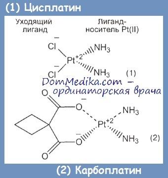 Карбоплатин и цисплатин